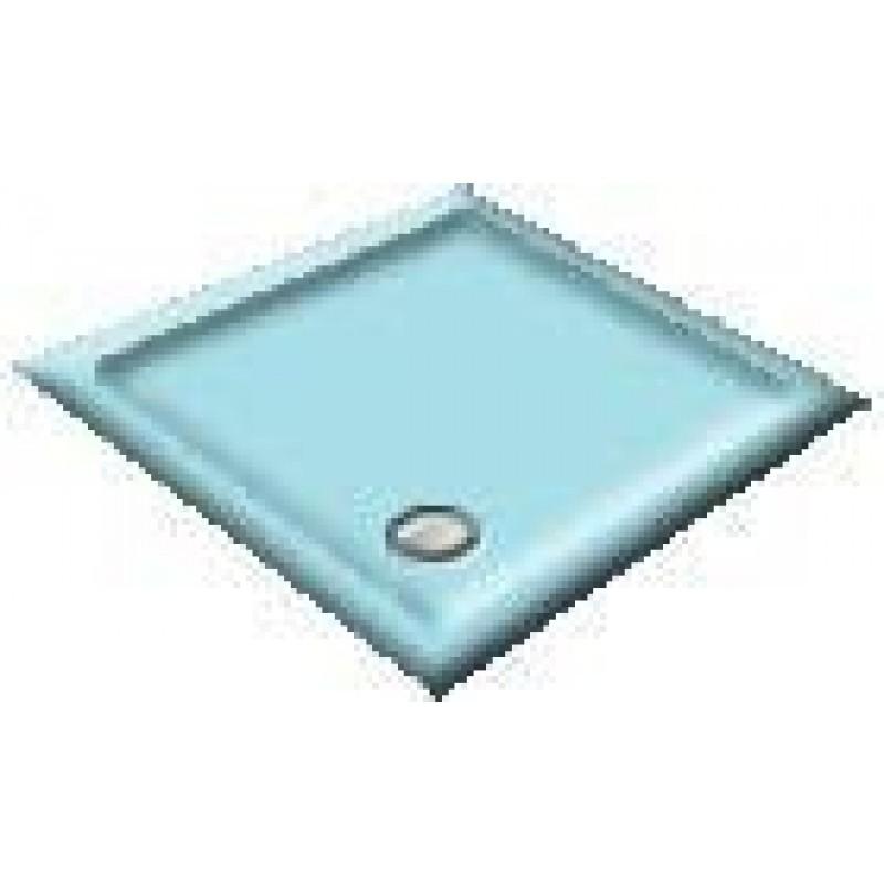 900X800 Sky Blue Offset Quadrant Shower Trays