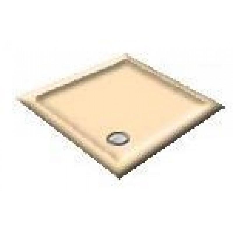 900X800 Whisper Apricot Offset Quadrant Shower Trays