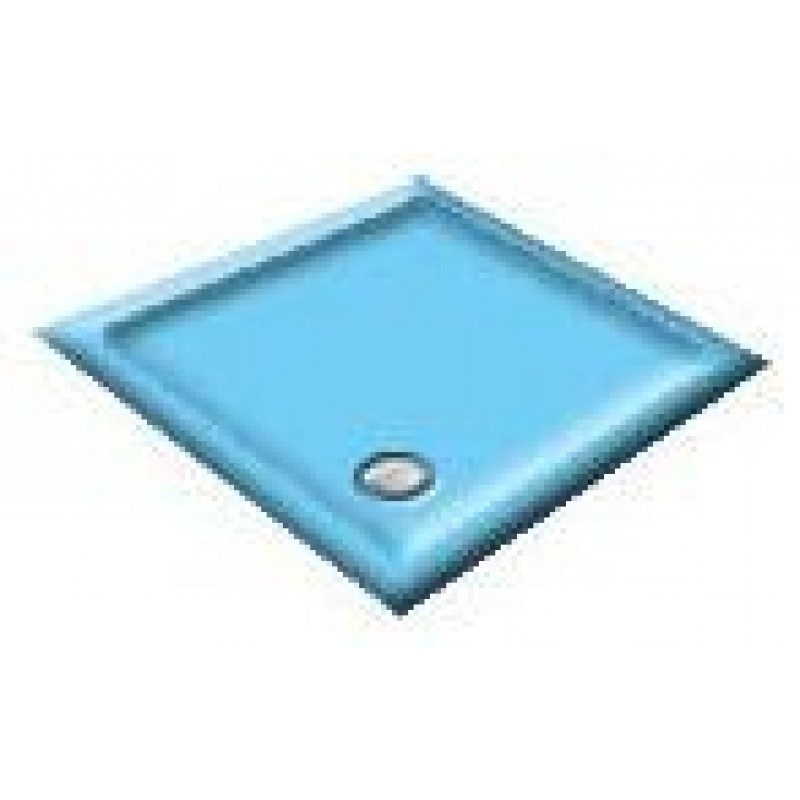 1400 Pacific Blue Offset Pentagon Shower Trays