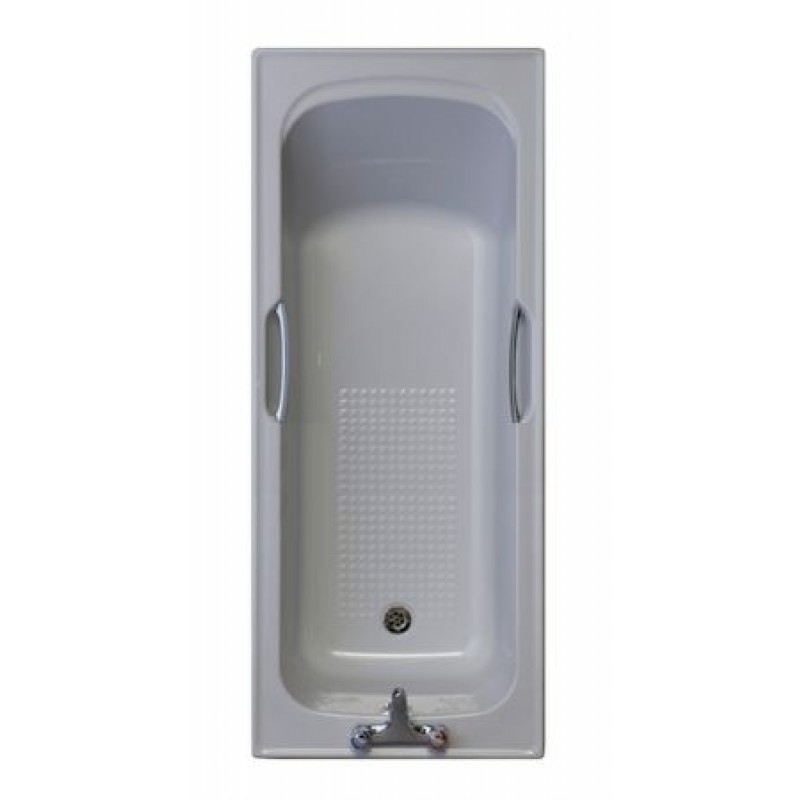 WHISPER GREY / 2 TAPHOLE TWINGRIP BATH 1675x700