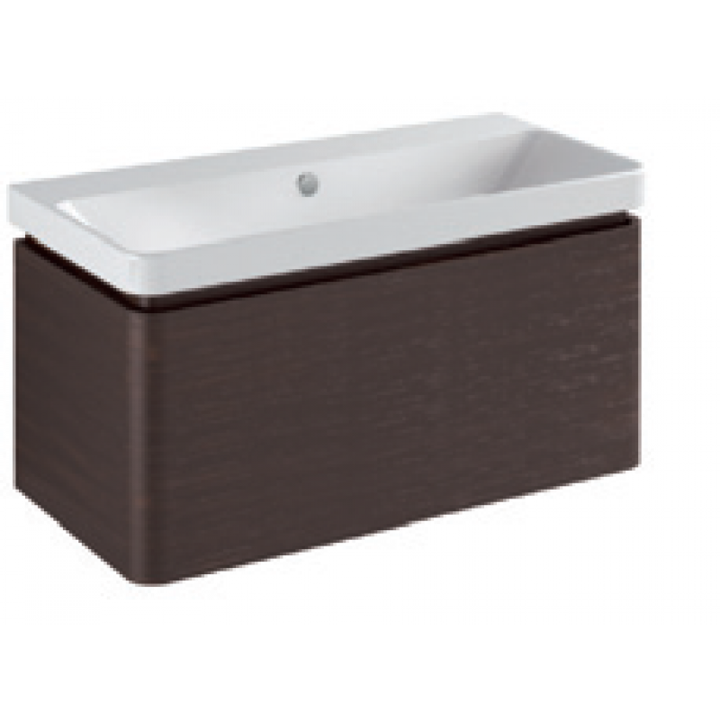Base 1 drawer- Gloss white / matt colours L90
