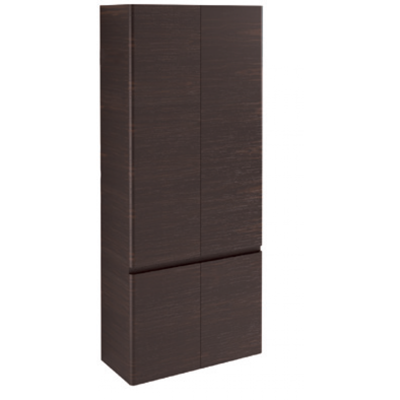 Tall Cabinet 4 doors-Glossy colours / Wood L70