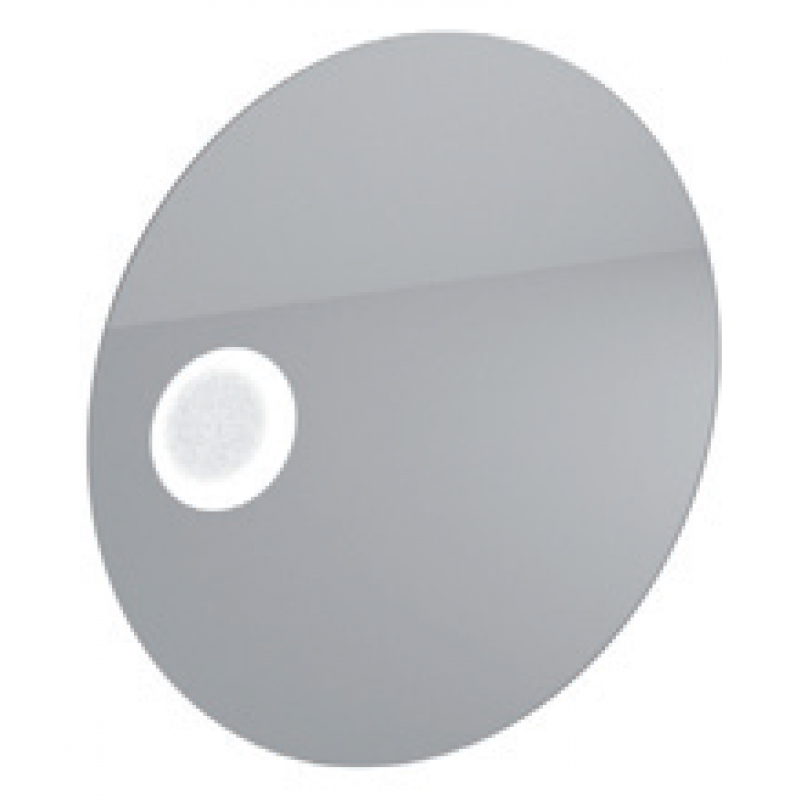 Round backlit mirror with touch-switch and stainless steel frame L75