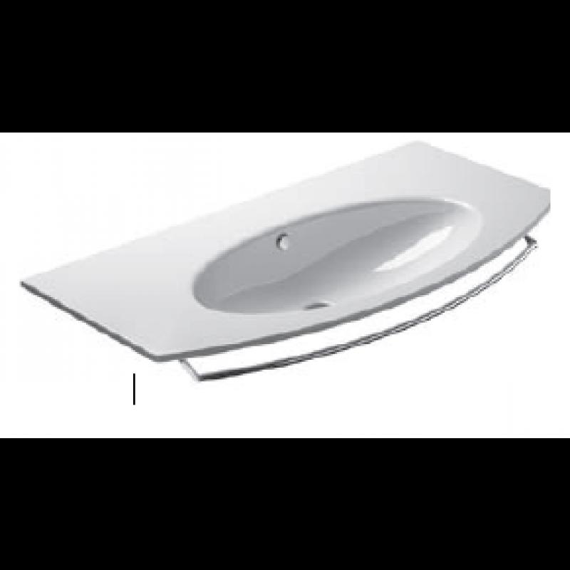 100 Washbasin 0, 1 or 3 tap holes-White