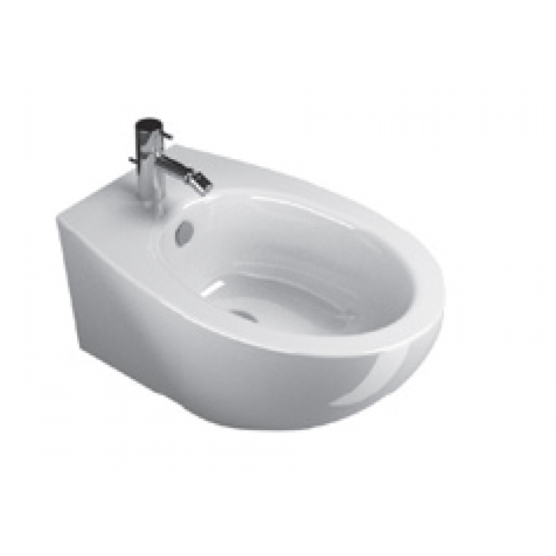 57 New Wall-hung bidet 1 tap hole-White satin