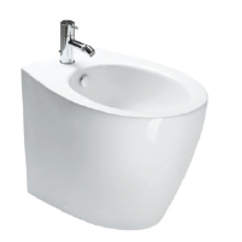 57 Back to wall bidet 1 tap hole-White