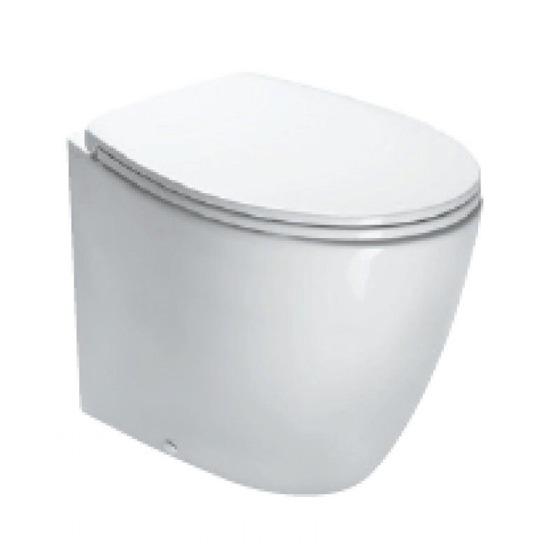 57 Back to wall pan-White satin