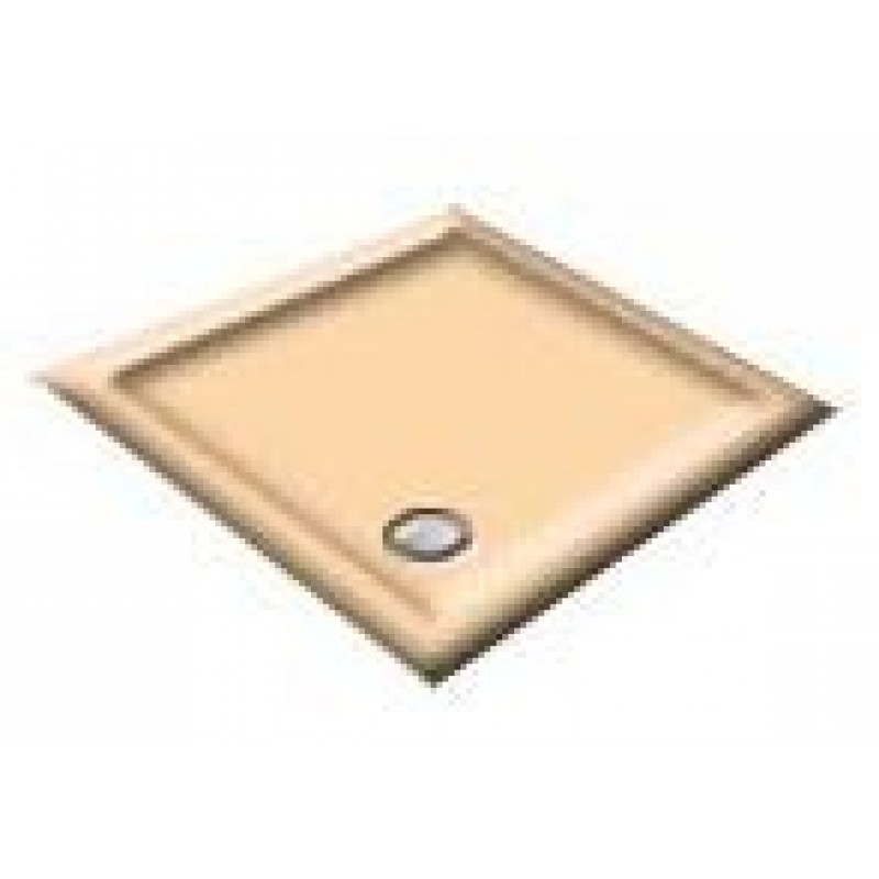 1000 Almond Pentagon Shower Trays