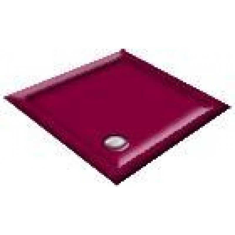 900 Burgundy Pentagon Shower Trays