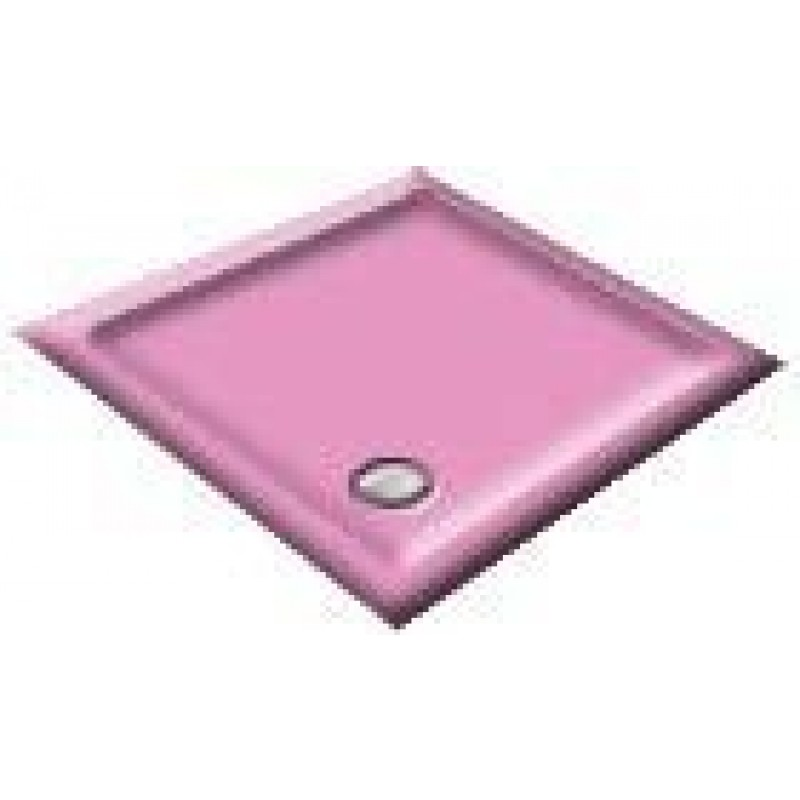 1000 Flamingo Pink Pentagon Shower Trays