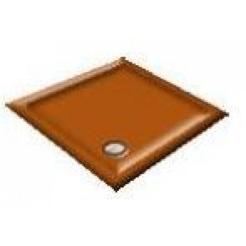 900x800 Autumn Tan Offset Quadrant Shower Trays