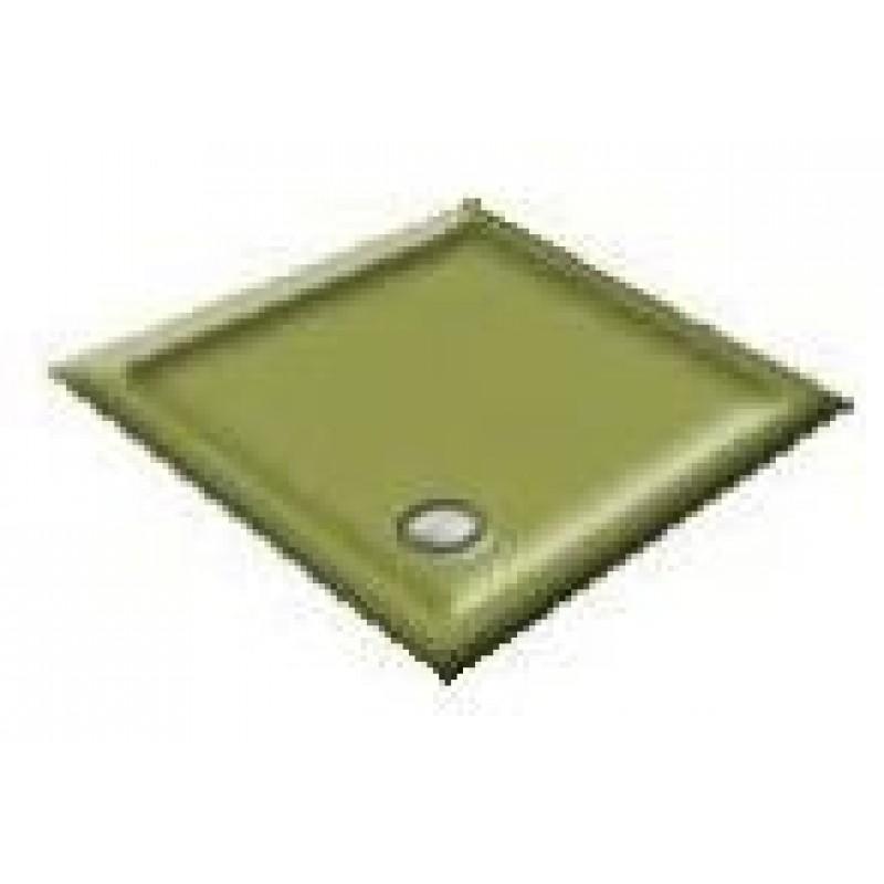 900x760 Avocado Offset Quadrant Shower Trays