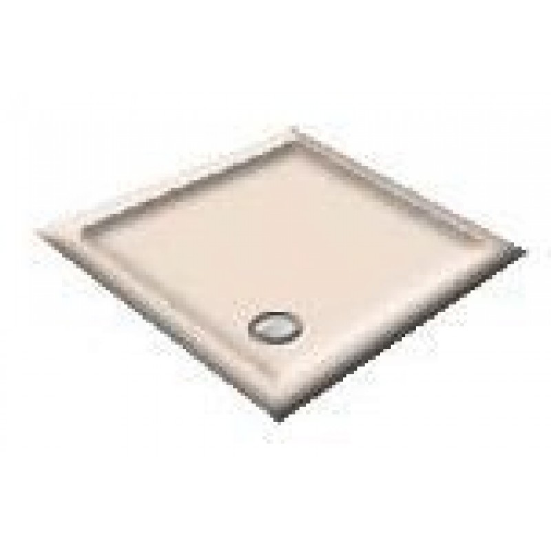 900x800 Coral Pink  Offset Quadrant Shower Trays
