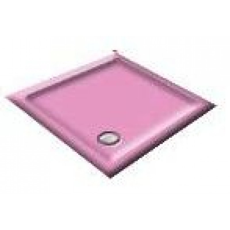 900x800 Flamingo Pink Offset Quadrant Shower Trays