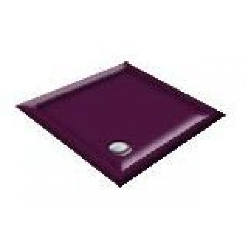 900x800 Imperial Purple Offset Quadrant Shower Trays