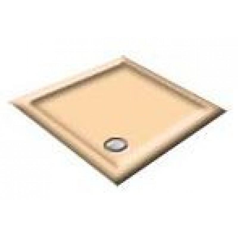 1200 Almond Offset Pentagon Shower Trays