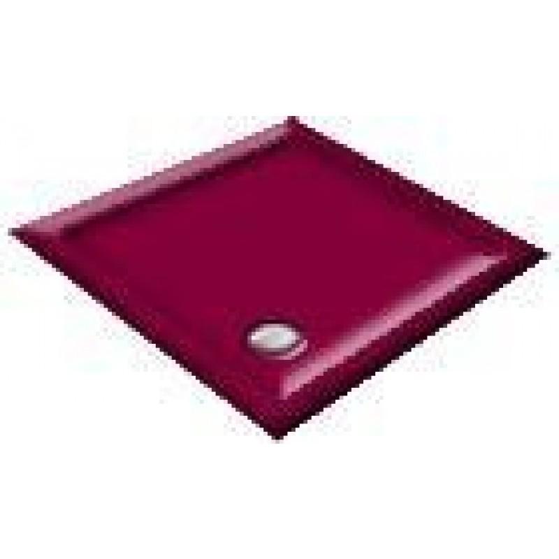 1200 Burgundy Offset Pentagon Shower Trays