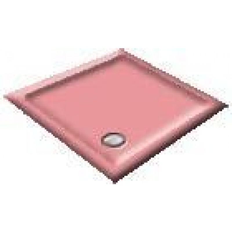 1200 Cameo Pink Offset Pentagon Shower Trays
