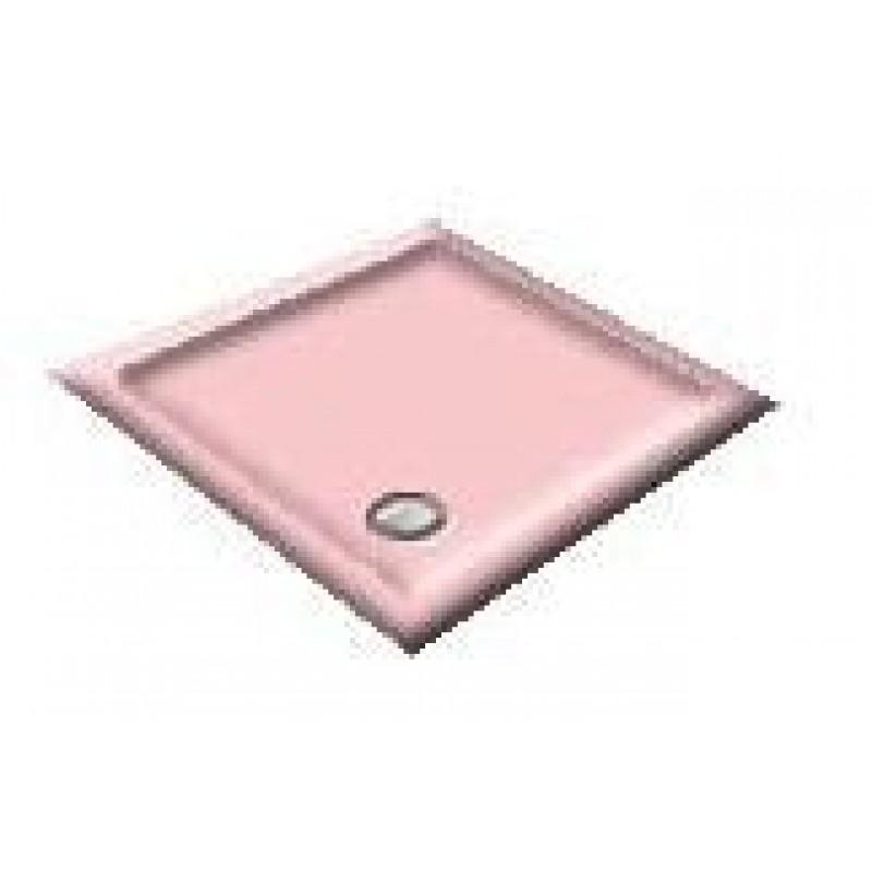 1400 Misty Pink Offset Pentagon Shower Trays
