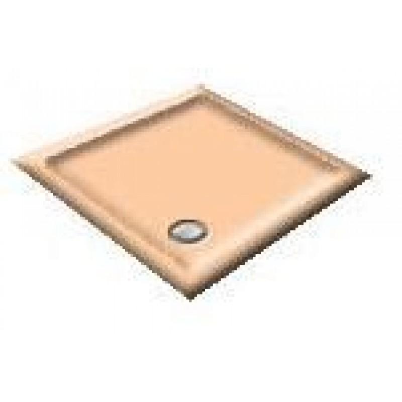 900X760 Peach Melba Offset Quadrant Shower Trays