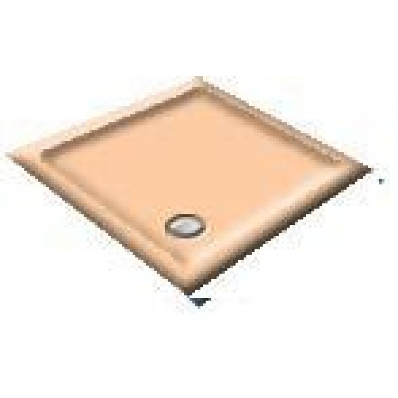900X800 Peach Offset Quadrant Shower Trays