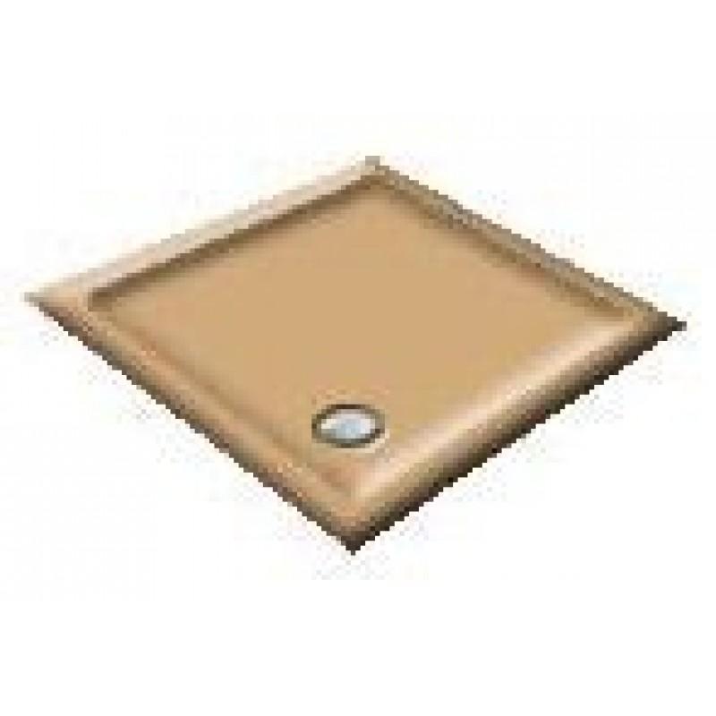 900X760 Sandalwood Offset Quadrant Shower Trays