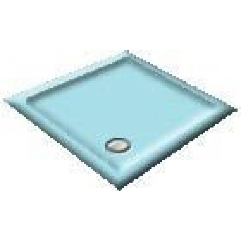 1200X800 Sky Blue Offset Quadrant Shower Trays
