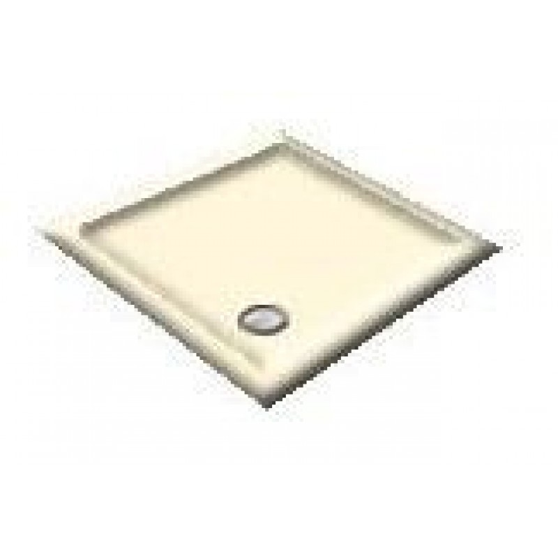 900X800 Soft Cream Offset Quadrant Shower Trays