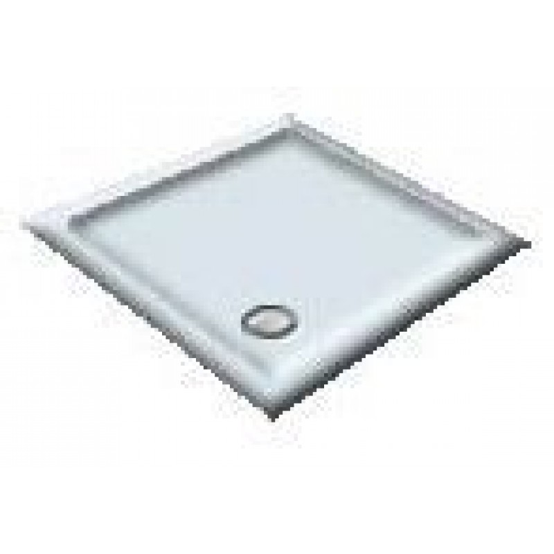 900X800 Whisper Blue Offset Quadrant Shower Trays