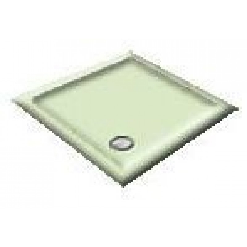 900X800 Whisper Green Offset Quadrant Shower Trays