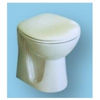 Black WC TOILET PAN back to wall model