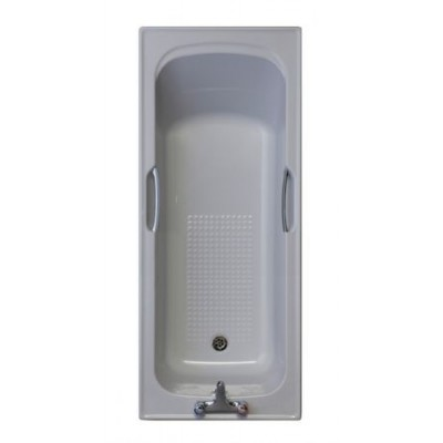 WHISPHER GREY / 2 TAPHOLE TWINGRIP BATH 1500x700
