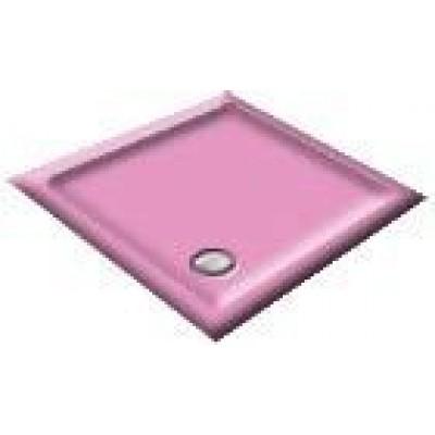1000x900 Flamingo Pink Rectangular Shower Trays