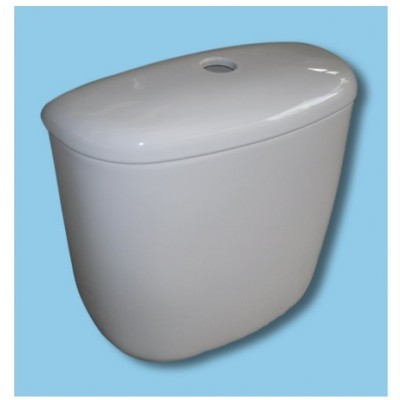 Sky Blue WC TOILET CISTERN 405 mm close coupled model (flush valve - push button)