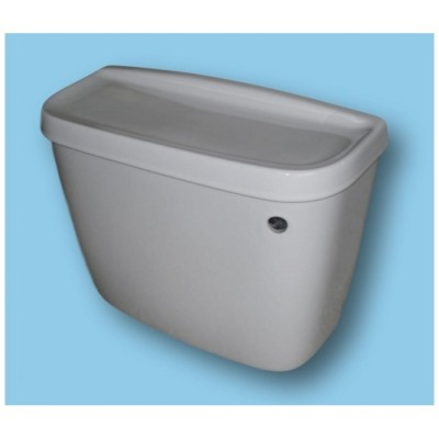 White WC TOILET CISTERN 450mm close coupled model (lever flush)