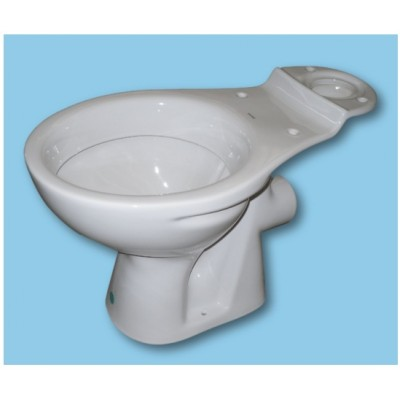 White WC TOILET PAN close coupled model (No Seat)