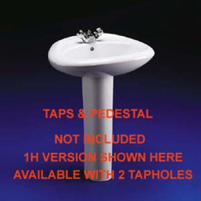 Cameo Basin  2 Tapholes - White