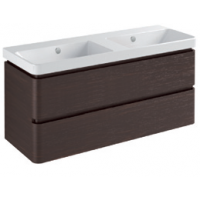 Base 2 drawers-Glossy colours / Wood L120