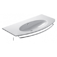 100 Washbasin 0, 1 or 3 tap holes-White satin