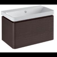 Base 1 drawer Gloss white / matt colours L -75