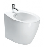 57 Back to wall bidet 1 tap hole-White satin