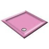 1000x900 Flamingo Pink Rectangular Shower Trays