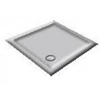 1000 Whisper Grey Pentagon Shower Trays