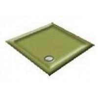 1000x800 Avocado Offset Quadrant Shower Trays