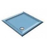 900x800 Bermuda Blue Offset Quadrant Shower Trays