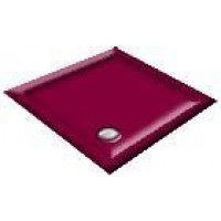 900x800 Burgundy Offset Quadrant Shower Trays