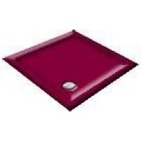 900x800 Burgundy Offset Quadrant Shower Trays