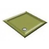 900x800 Avocado Offset Quadrant Shower Trays