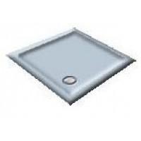 900X760 White/Blue Delft Offset Quadrant Shower Trays